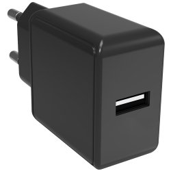 Safety Charger Lader USB-A Svart