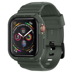 Apple Watch 44mm (Series 4/5/6/SE) Deksel Rugged Armor Pro Military Green