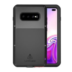 Samsung Galaxy S10 Plus Deksel Powerfull Case Stötsäkert Svart