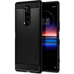 Sony Xperia 1 Deksel Rugged Armor Matte Black