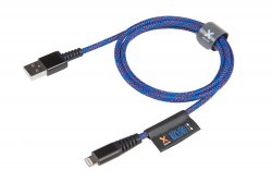 Solid Blue Longlife Kabel 1M USB till Lightning Blå