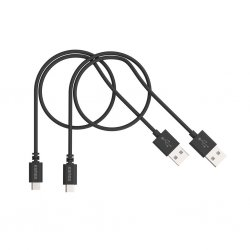 Micro USB laddnings- och synkroniseringsKabel 0,5m - 2 pack