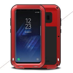 Powerfull Case till Samsung Galaxy S8 Super GUARD Deksel Stötsäkert Rød