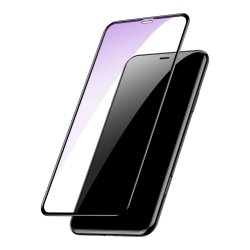 Skjermbeskytter i Herdet Glass 0.2mm 9H Anti-blue-ray Full Size iPhone Xr/11 Svart